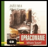 Okładka opracowania lektury Dżuma na MP3